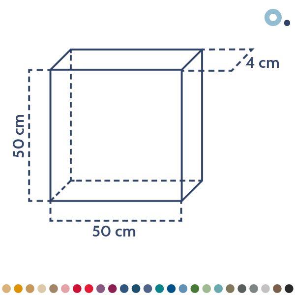 panel acústico basic 50cm x 50cm- sineco.