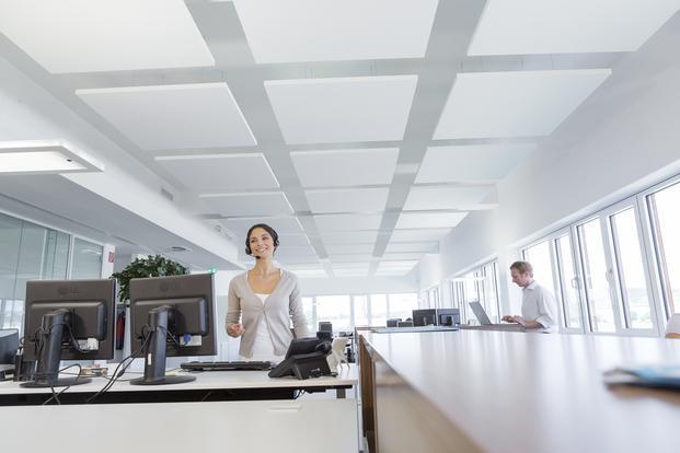 Materiales de absorción acústica empleados en el diseño de interiores.