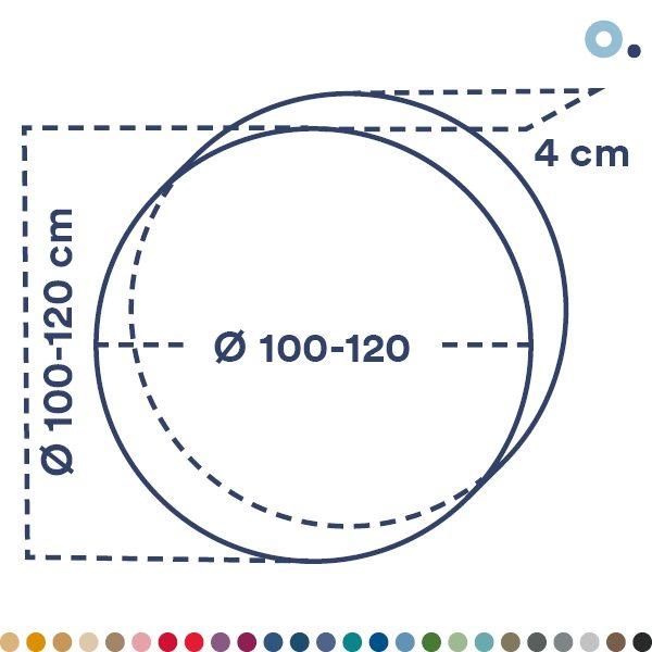 Panel acústico circular grande