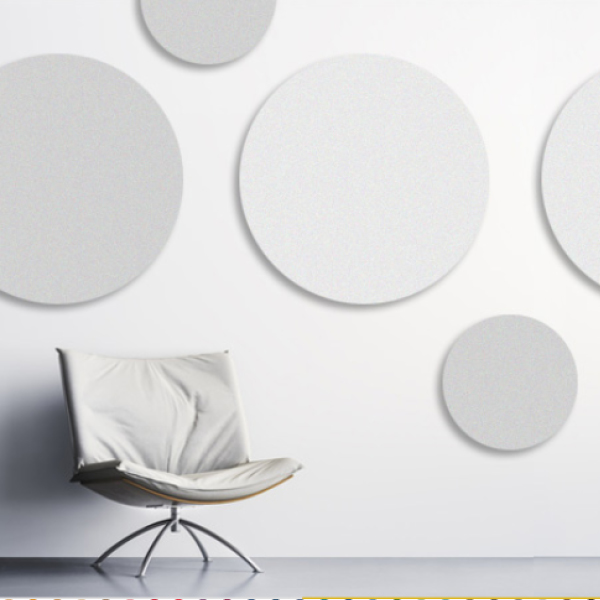panel acústico circular