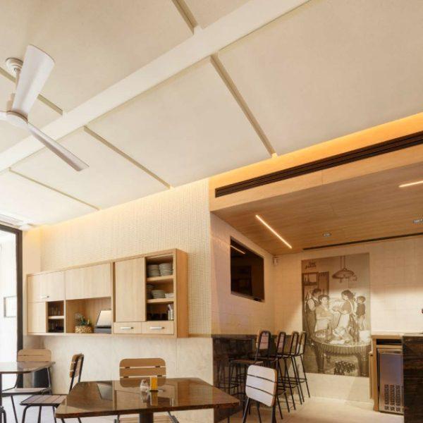 Paneles acústicos decorativos cuadrados