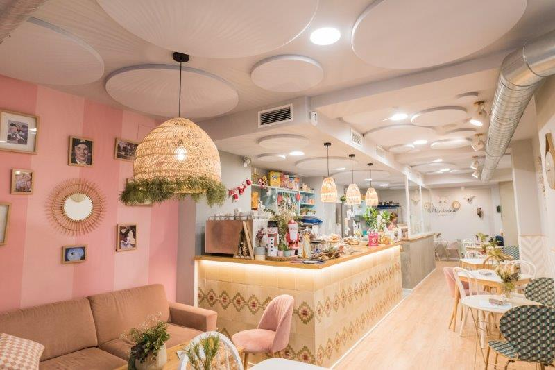 Paneles acusticos cafeteria sineco