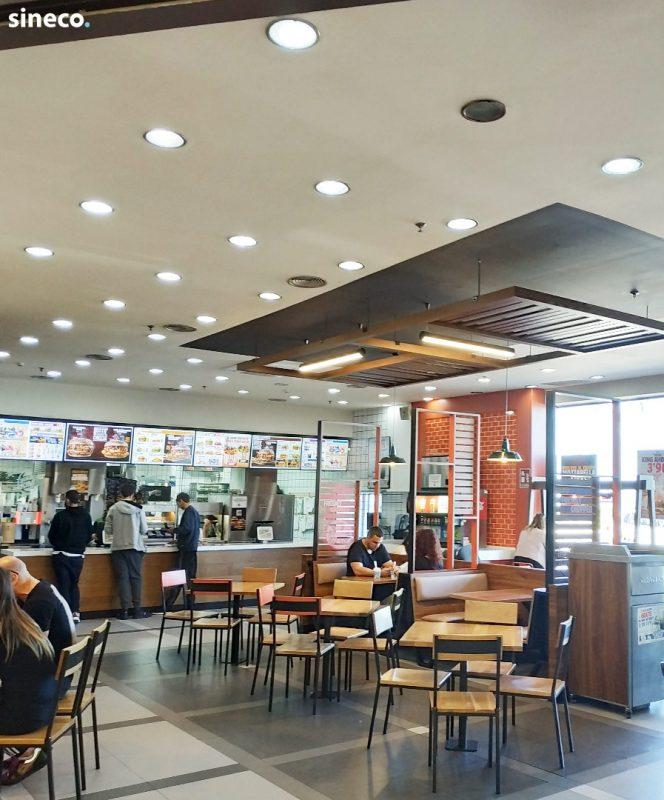 Comida rápida Burger King - Proyecto realizado con sineco.